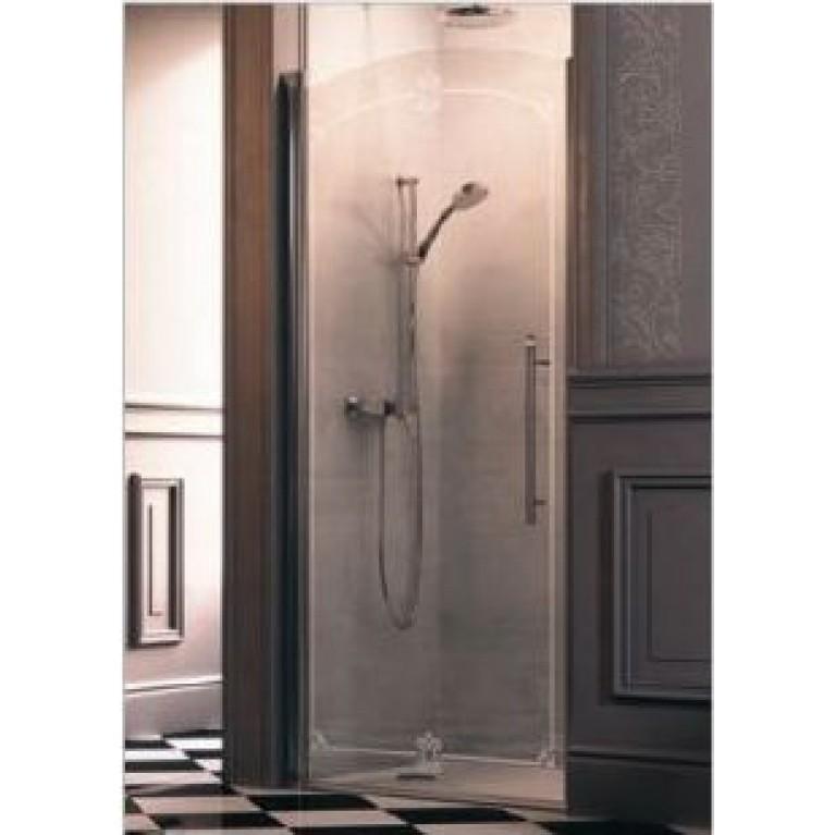 DESIGN VICTORIAN Дверь распашная 90*190см (проф гл хром, стекло Anti-Plaque), фото 1