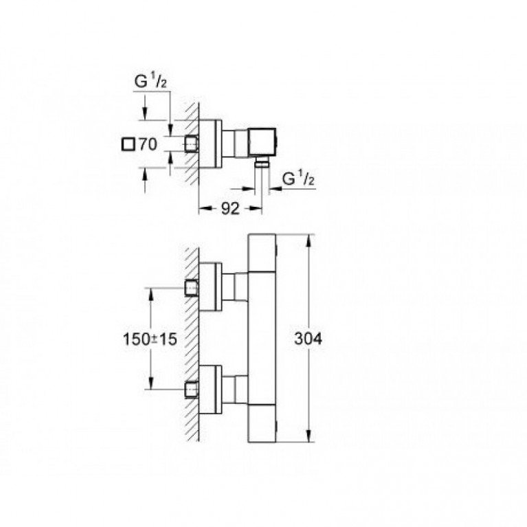 Grohtherm Cube Термостат для душа 34488000