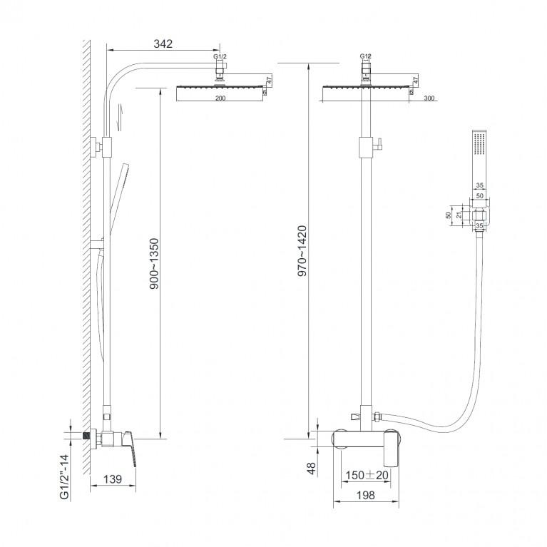GRAFIKY система душевая  для душа ZMK041807090, фото 2