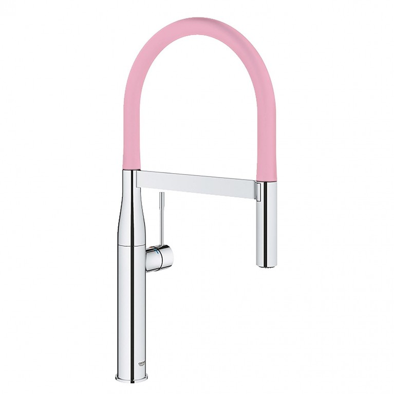 GROHFlexx Шланг гибкий с пружиной для смесителя на мойку, цвет хром/розовый 30321DP0, фото 2