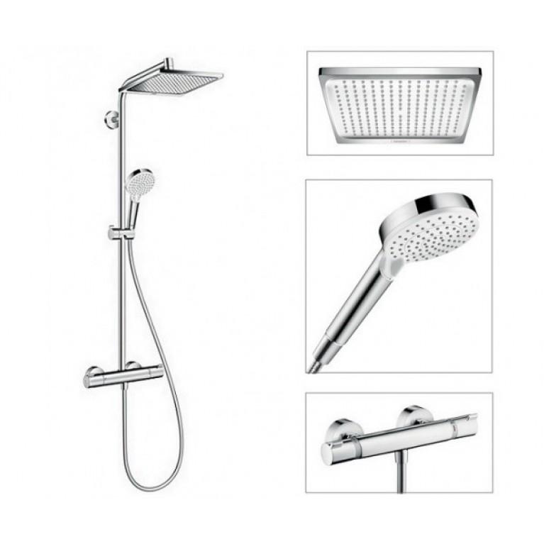 Купить Crometta E 240 1jet Showerpipe Душевая система с термостатом, хром у официального дилера HANSGROHE в Украине