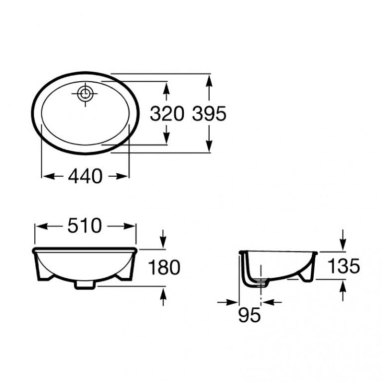 NEO SELENE умывальник 51*39,5 см A322307000