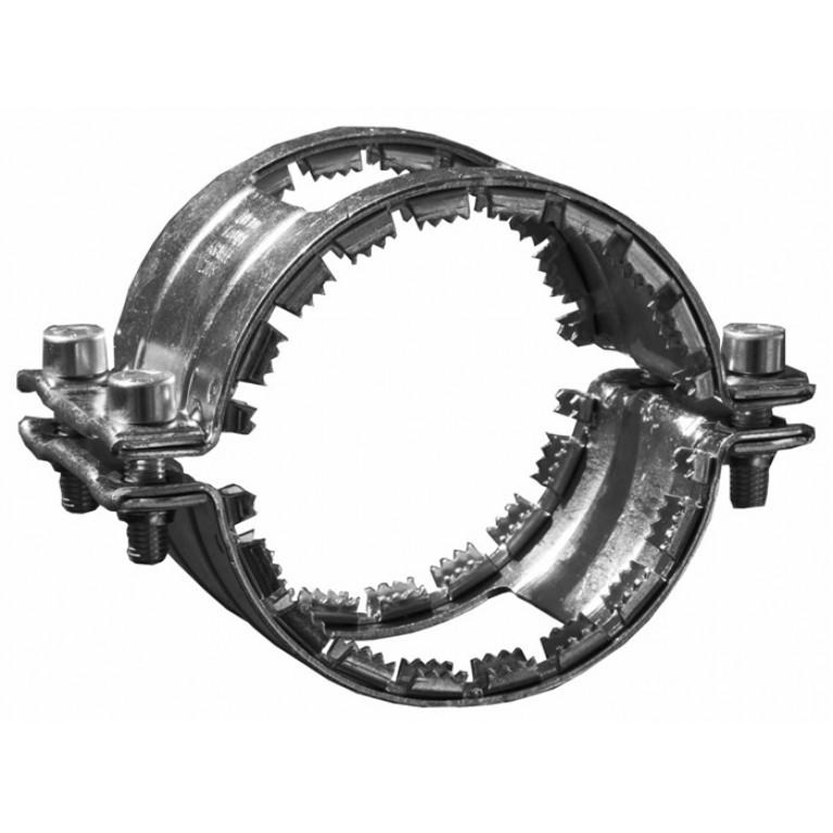 Хомут соединительный из черного металла Kombi grip collar, DN 300