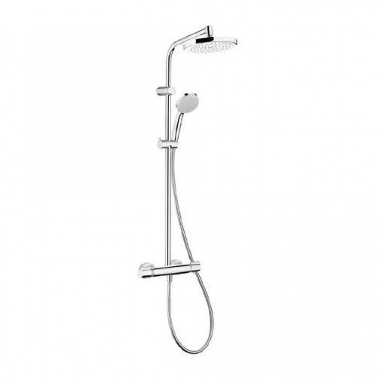 Купить Verso 220 Showerpipe Душевая система с термостатом у официального дилера HANSGROHE в Украине