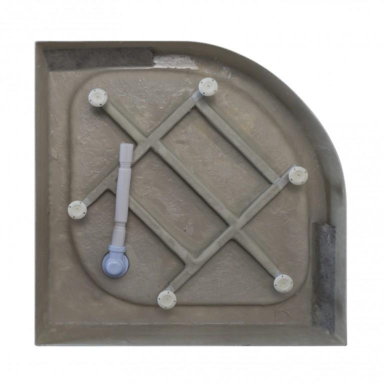 TISZA (AMUR) поддон полукруглый акриловый 90*90*15 см 599-021/2