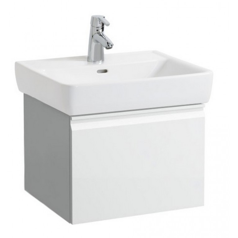PRO тумба 520*450*390мм, для раковины 818952, с 1м выдвижным ящ., цвет белый, фото 1