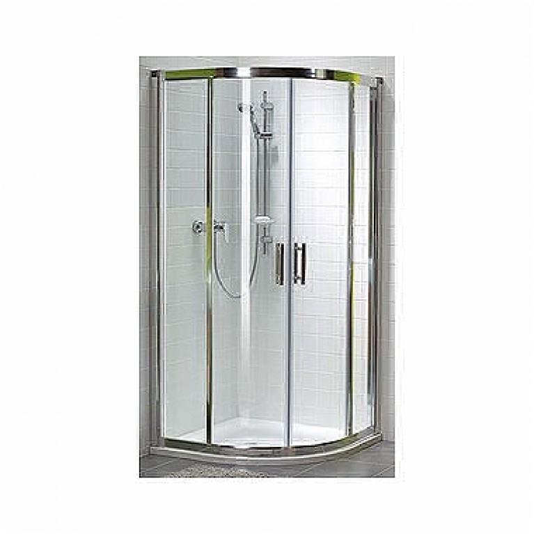 Купить GEO 6 кабина полукруглая 80*80 см , (1/2 и 2/2) двери раздвижные, стекло PRISMATIC у официального дилера KOLO Польша в Украине