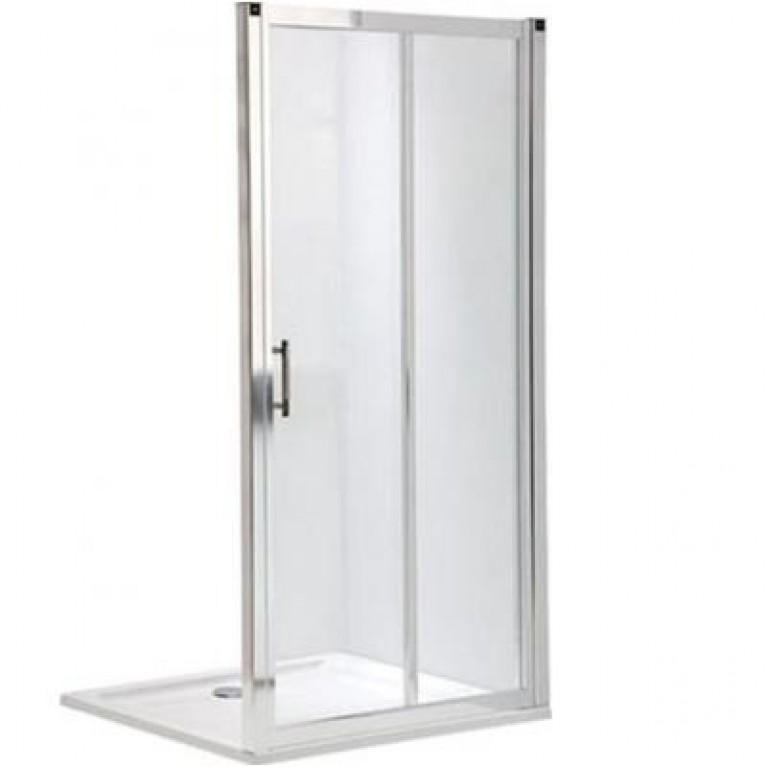 GEO 6 двери раздвижные 2-элементные 110см, закаленное стекло, серебряный блеск, часть 1/2, фото 1