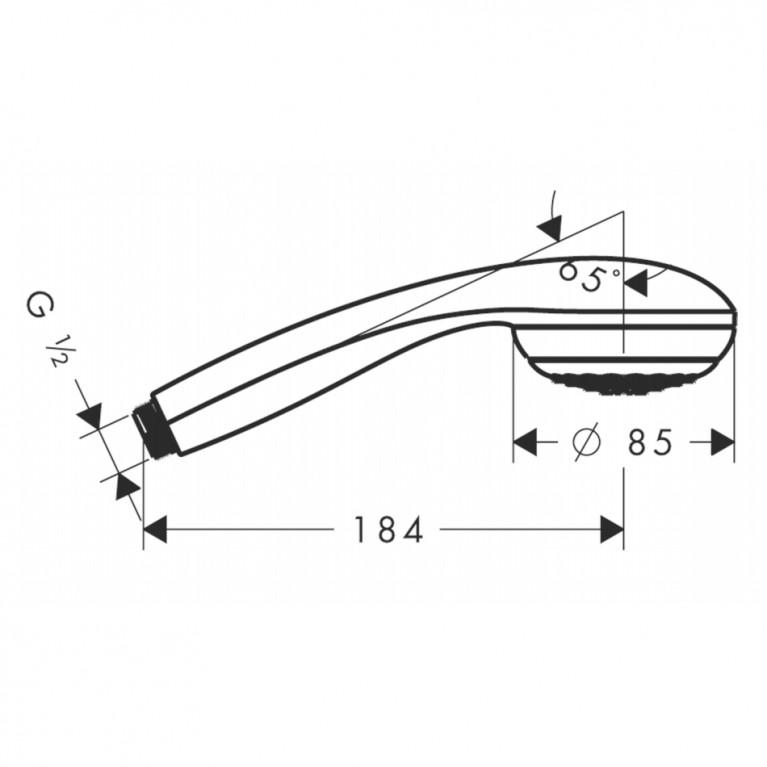 Crometta 85 Ручной душ 28585000, фото 2