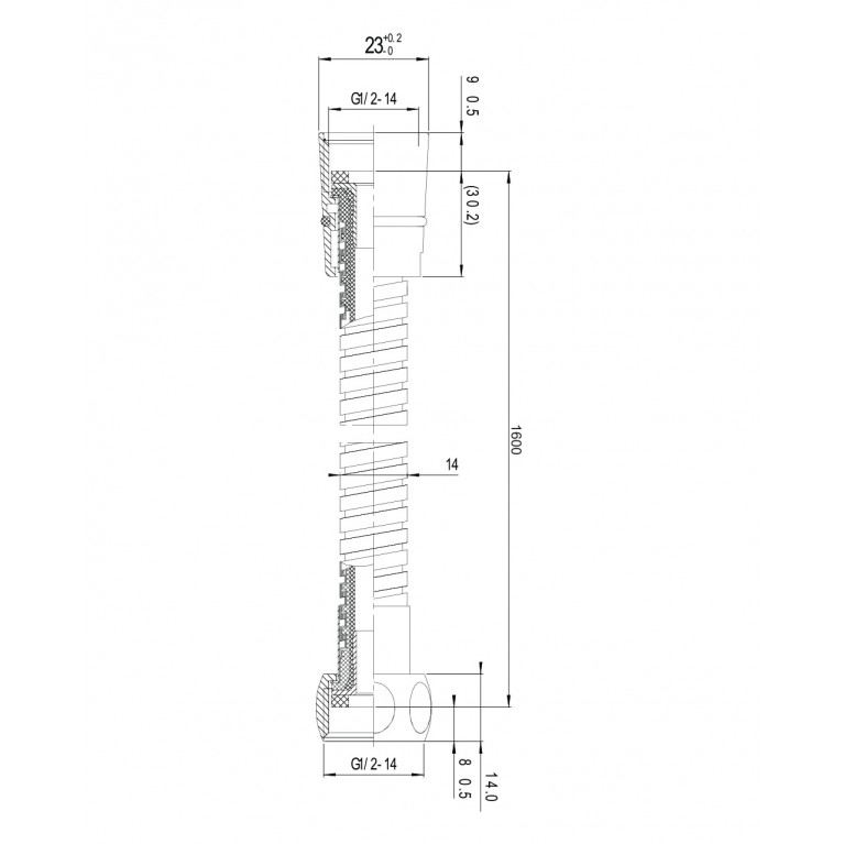 Шланг для душа  с двойной оплеткой, стандарт, 1,6 м ПЭпак 1116, фото 2