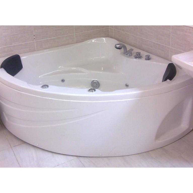 Ванна угловая с гидромассажем и пневмокнопкой 1540*1540*690 мм