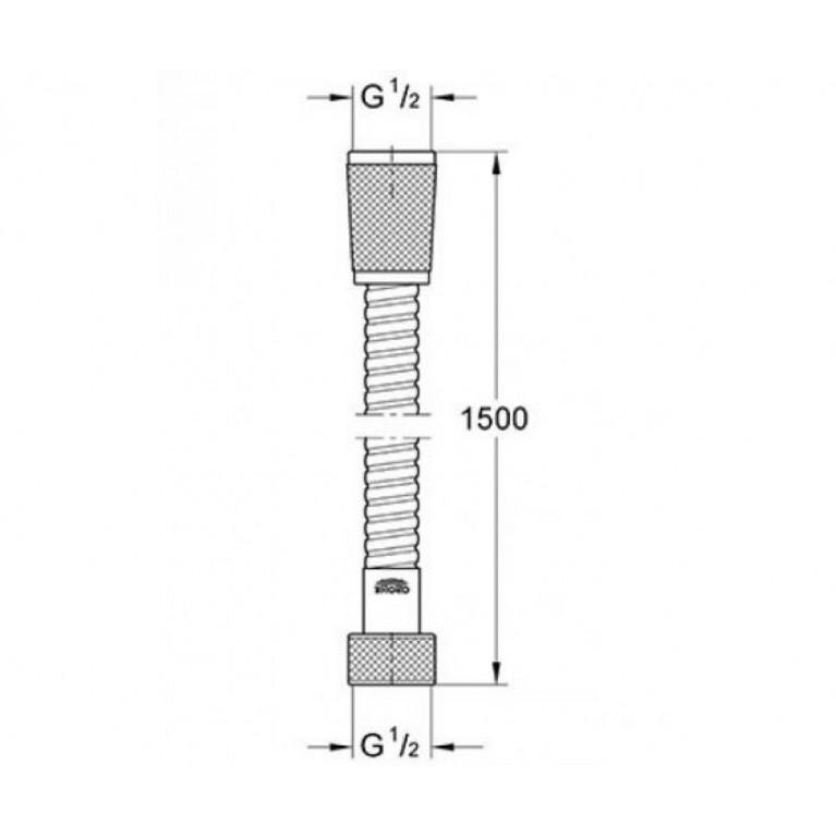 Grohe Душевой шланг металлический, 1500 мм 28105000, фото 2