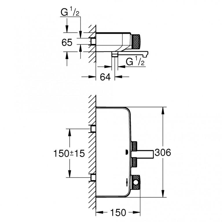Grohtherm SmartControl термостат для душа/ванны 34718000, фото 2