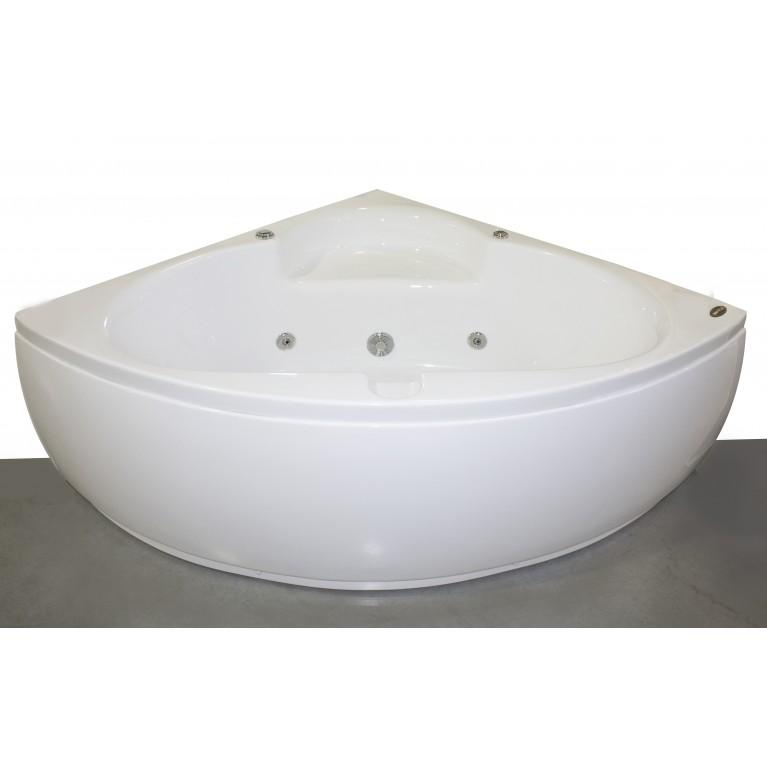 Ванна угловая с гидромассажем и пневмокнопкой 1400*1400*620 мм