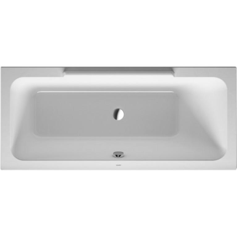 DURASTYLE ванна 160*70см встраиваемая или для панелей,с наклоном для спины справа, фото 1