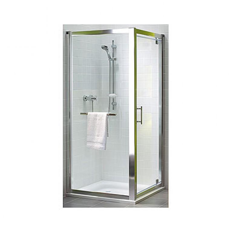 GEO 6 двери pivot, 80 см, для комплектации с боковой стенкой GEO 6 профиль серебряный блеск, фото 1