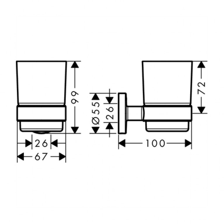 Logis Набор аксессуаров: крючок двойной, диспенсер, держатель туалетной бумаги, стакан, туалетная щётка 41723111, фото 5