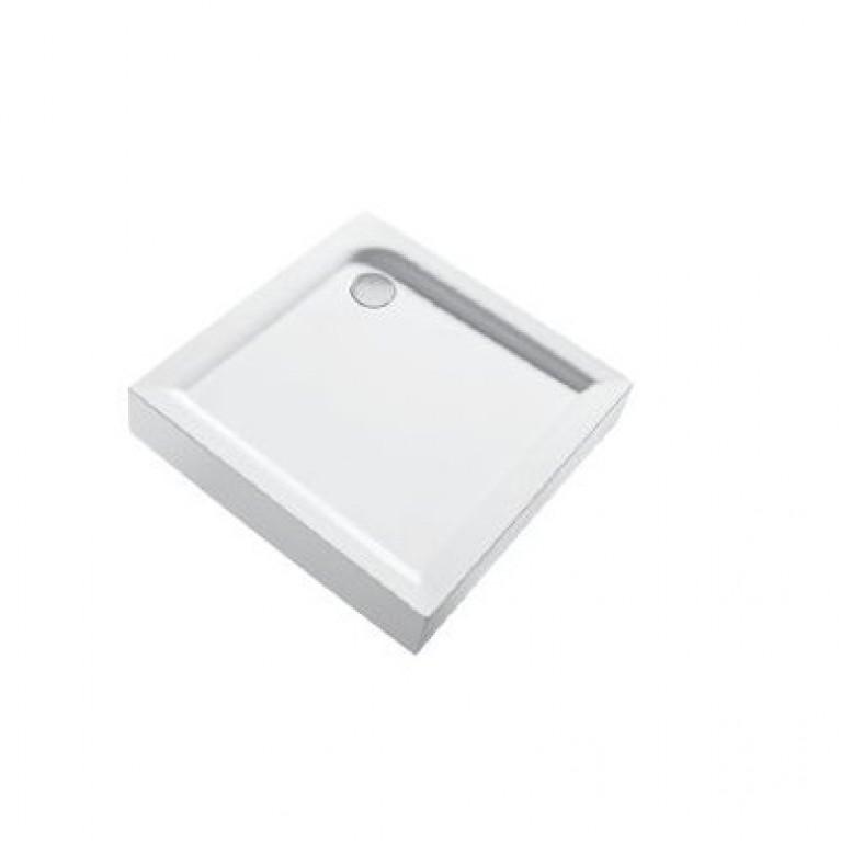 FIRST поддон квадратный 80 x 80 см, с интегрированной панелью, фото 1