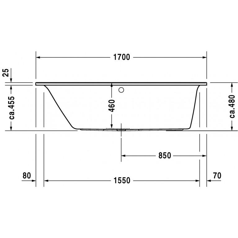 DARLING NEW ванна 170*70*46см, встраиваемая версия или версия с панелями, с наклоном для спины слева 700240000000000, фото 4