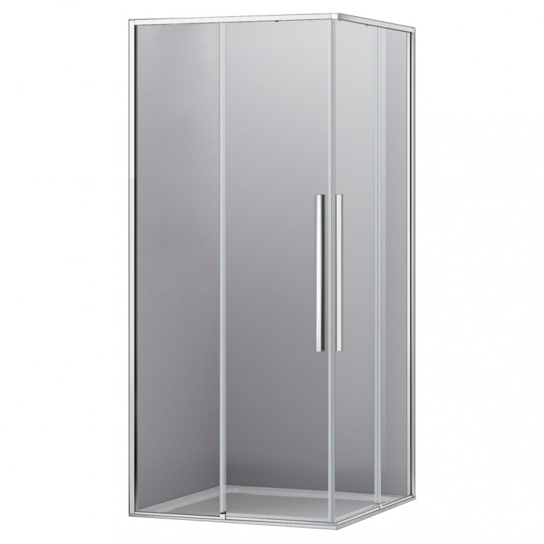 A LÁNY Душевая кабина квадратная 900*900*1950мм(стекла+двери), двери раздвижные, стекло прозрачное  6 мм, профиль хром, фото 1