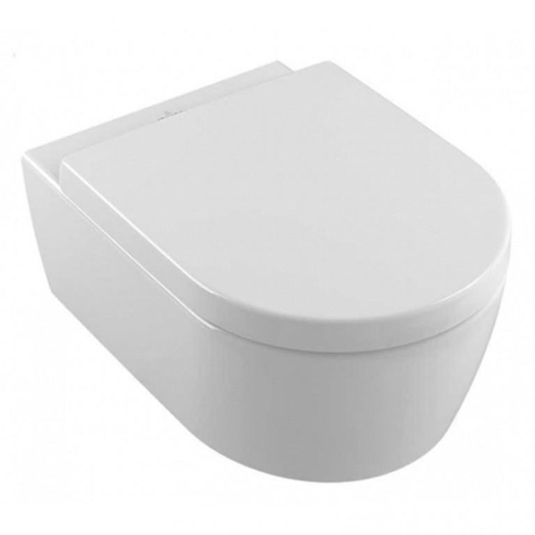 AVENTO унитаз подвесной, верт.смыв DirectFlush + сиденье QuickRelease и SoftClosing, цвет белый альпин С+, фото 1