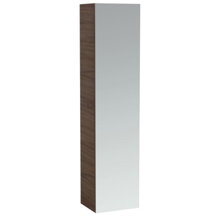 ALESSI ONE тумбочка высокая 1700*400*300мм, с зеркалом с обеих сторон, дверные петли справа, нат.шпон светлый орех