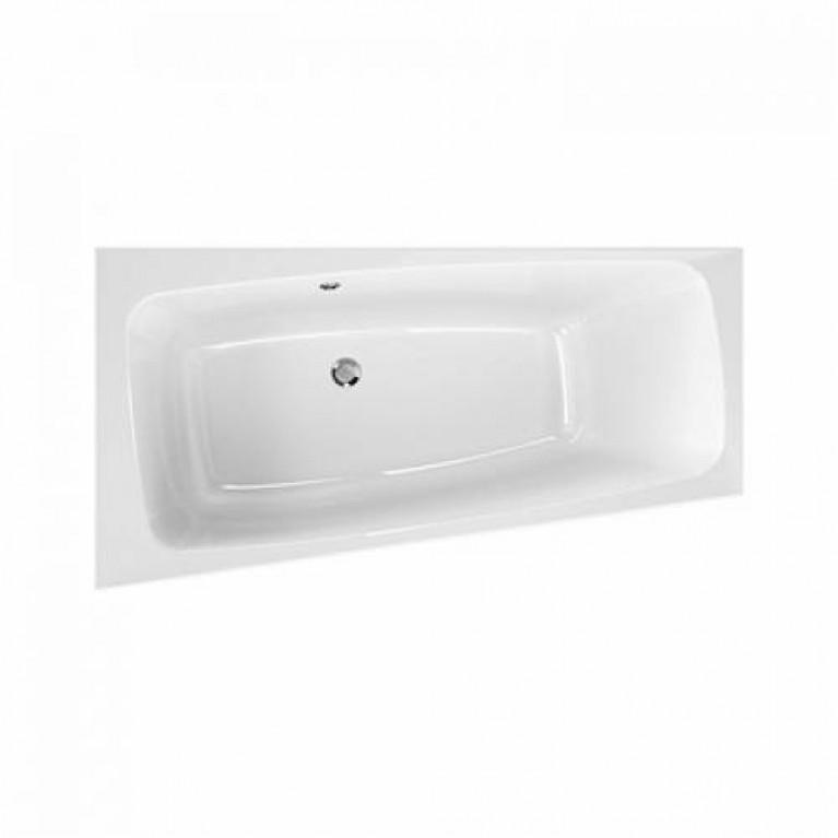 SPLIT ванна 150*80 см, асимметричная, левая, центральный слив, с ножками