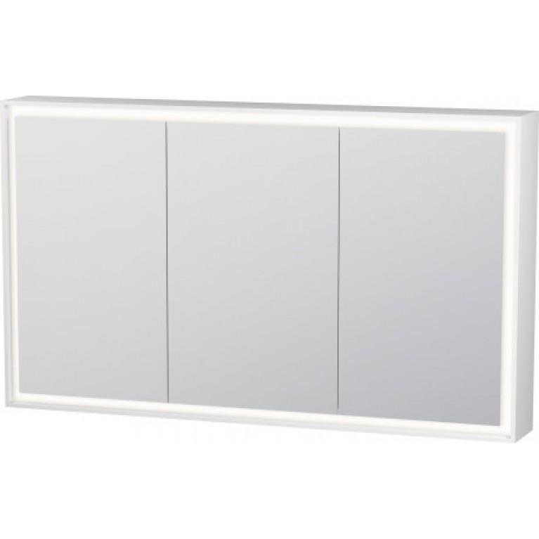 L-CUBE зеркальный шкафчик 120*15,4см, с подсветкой, цвет белый матовый