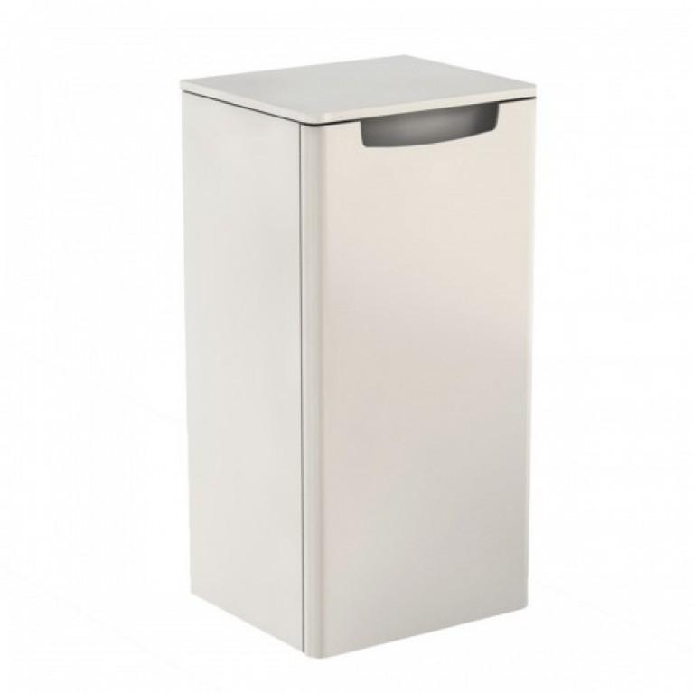 REKORD шкафчик боковой, низкий, белый глянец