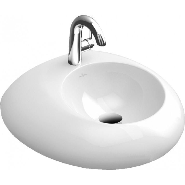 Купить PURE STONE раковина на 1отв, 605*540мм, цвет белый альпин ceramicplus у официального дилера VILLEROY & BOCH в Украине