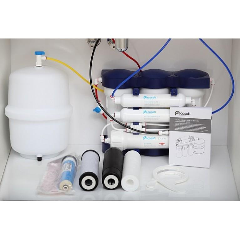Фильтр обратного осмоса Ecosoft P'URE с минерализатором MO675MPURE, фото 6