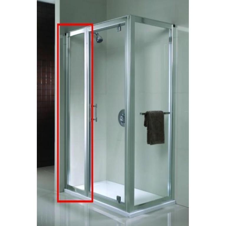 GEO 6 панель расширяющая 60 см, закаленное стекло, серебряный блеск, фото 1