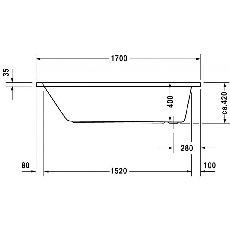D-CODE ванна прямоугольная 170*75см 700100000000000, фото 3