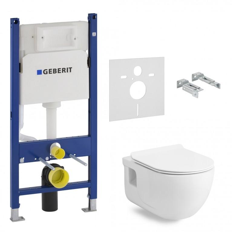 Инсталяция GEBERIT DUOFIX для унитаза 3В1 458.126.00.1+ VOLLE ALTEA RIMLESS 13-64-267, фото 1