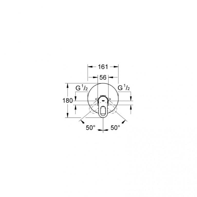 BauLoop Смеситель для душа однорычажный , DN 15, хром 29080000
