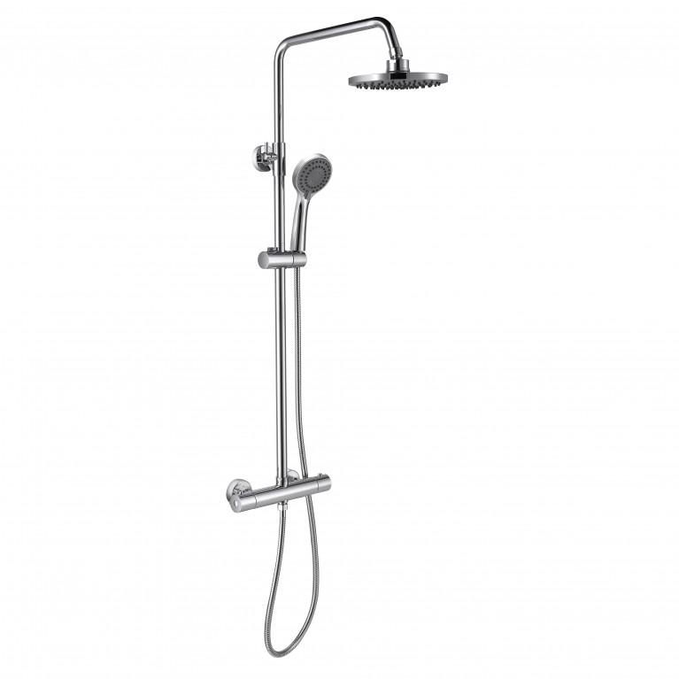 Система душевая  LUX с термостатом (верхний душ 200мм, ручной душ 3 режима)