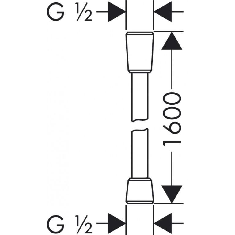 Isiflex``B Шланг душевой 1,60 м, хром 28276000