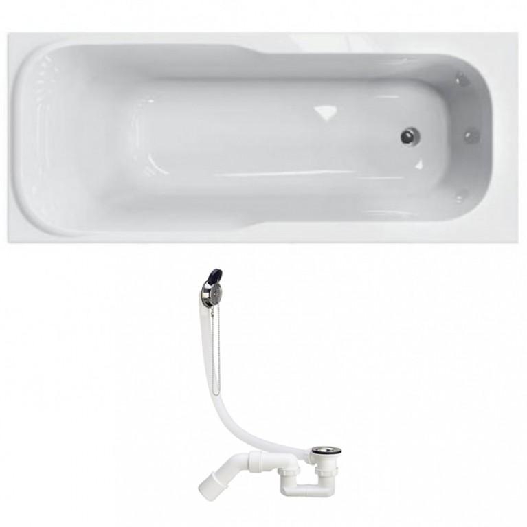 SENSA ванна прямоугольная 150*70 см + Сифон Viega Simplex  для ванны