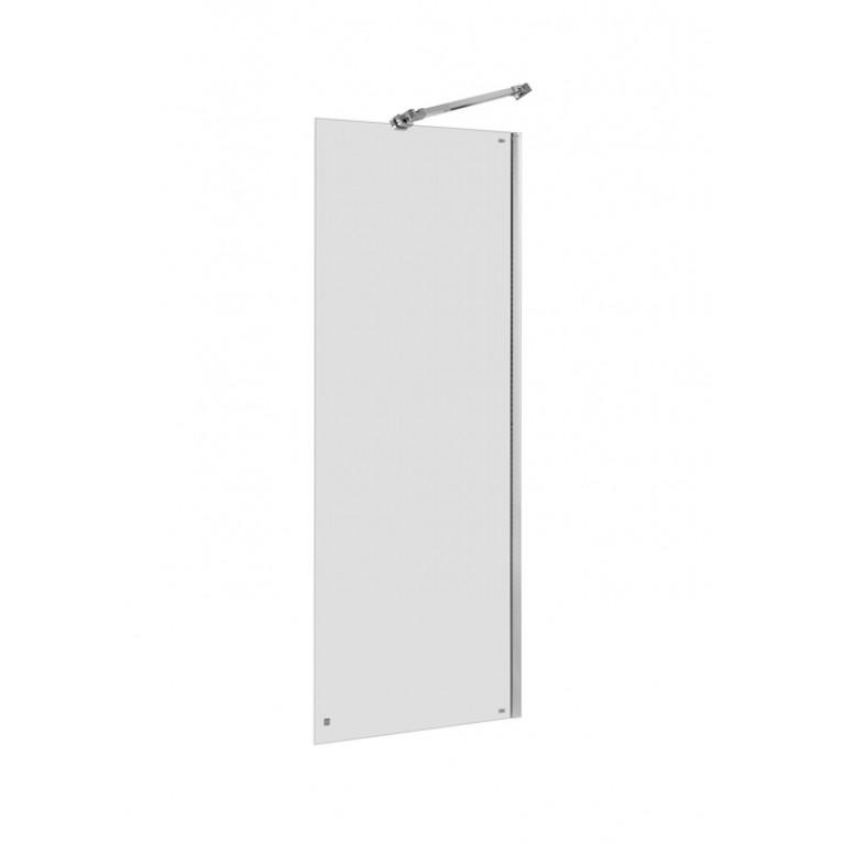 CAPITAL стенка 90*195см, душевая, алюминиевый хром. профиль