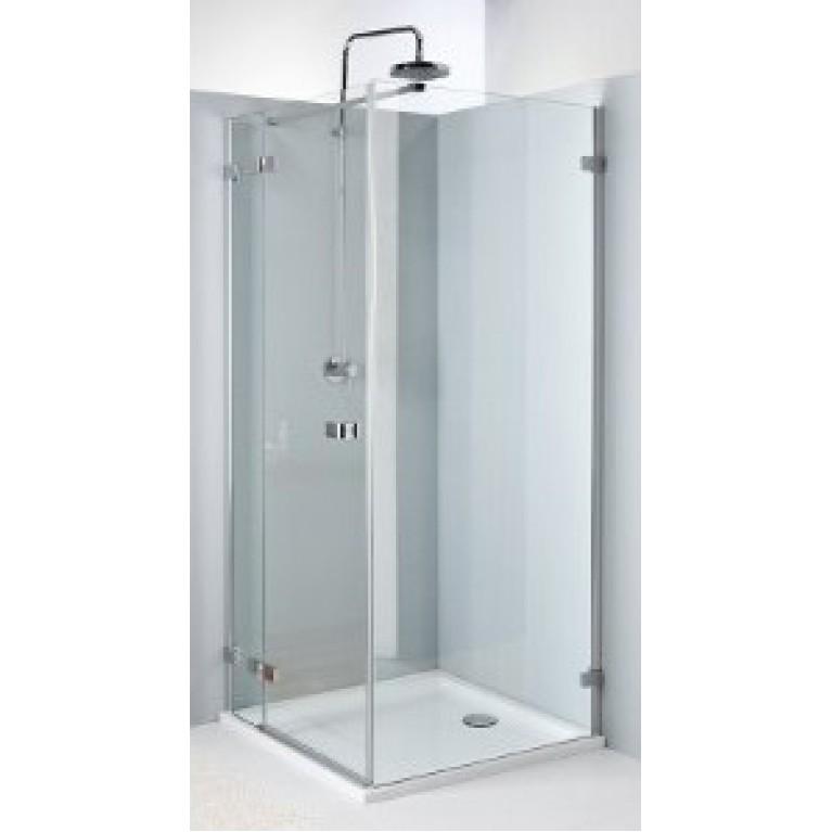 NEXT двери распашные 90 см левые, закаленное стекло, хром/серебряный блеск, Reflex