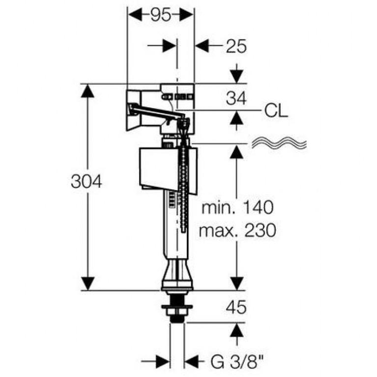 "ImpulsBasic340 Впускной клапан 3/8"" 136.725.00.1"