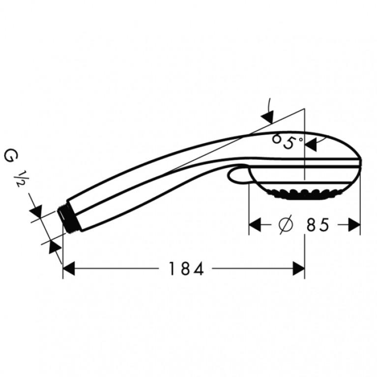 Crometta 85 Variojet Ручной душ 28562000, фото 2
