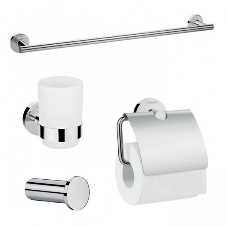 Logis Набор аксессуаров: крючок, полотенцедержатель, держатель туалетной бумаги, стакан (41711000+41716000+41723000+41718000)