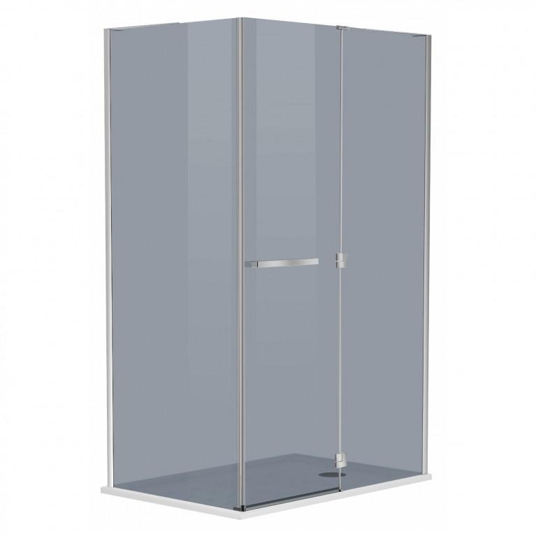 MEGERKA Душевая кабина прямоугольная 120*80*190см (стекла+двери), распашная дверь, стекло тонированное 6мм, правая