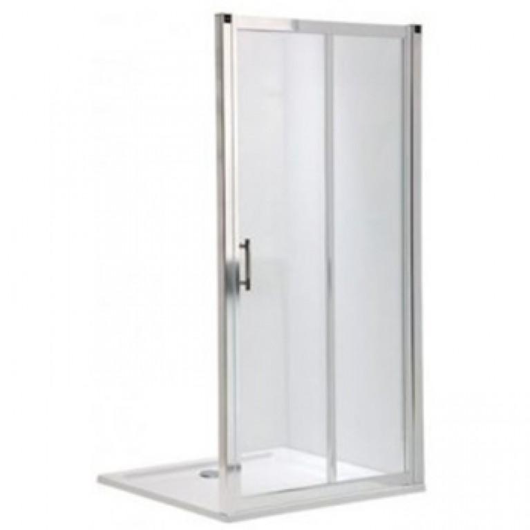 GEO 6 двери раздвижные 2-элементные 110 см, закаленное стекло, серебряный блеск, часть 2/2, фото 1