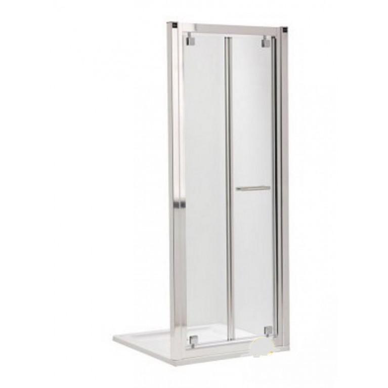 GEO 6 двери bifold, 80 см, для комплектации с боковой стенкой GEO 6 80см. серебряный блеск, фото 1