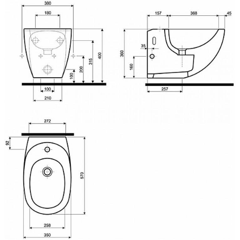 EGO биде подвесное с покрытием Reflex (пол.) K15100900, фото 2