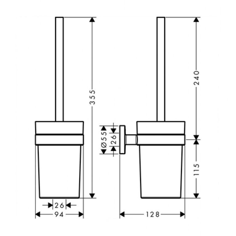 Logis Набор аксессуаров: крючок двойной, диспенсер, держатель туалетной бумаги, стакан, туалетная щётка 41723111, фото 4