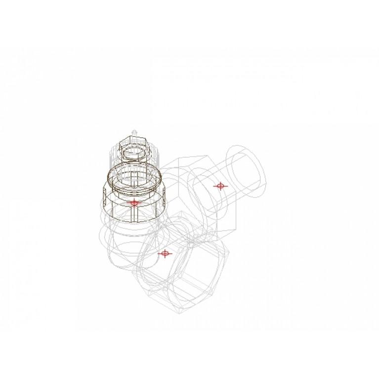 Danfoss Клапан RA-N 15 термостатический, угловой-левый вх. 1/2 013G0234, фото 3