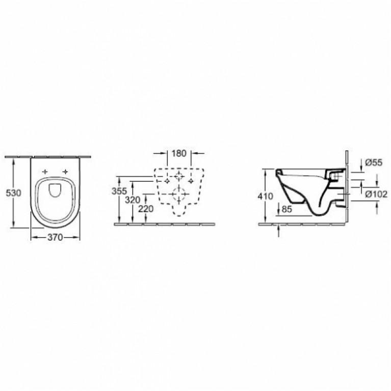 Комплект: ARCHITECTURA унитаз подвесной DirectFlush, Slow closing+VICONNECT PRO инcтaлляция+VICONNECT PRO клавиша смыва 5684HR01+92214200+92214361, фото 2
